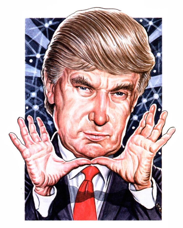 Donald Trump color illustration Feb 23 2004 Fortune magazine issue