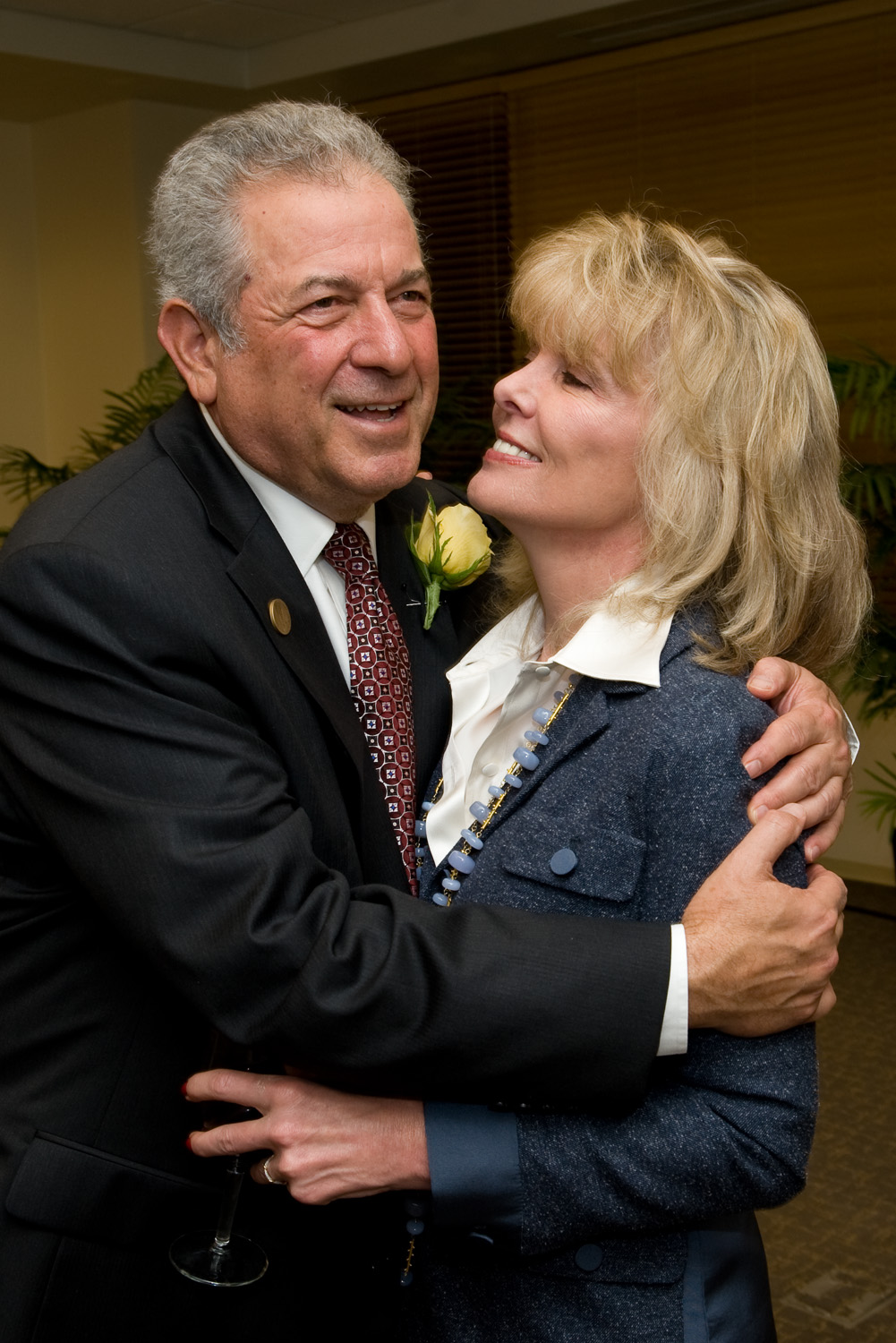 Richard Rainwater with his wife, Darla Moore, in 2010 .