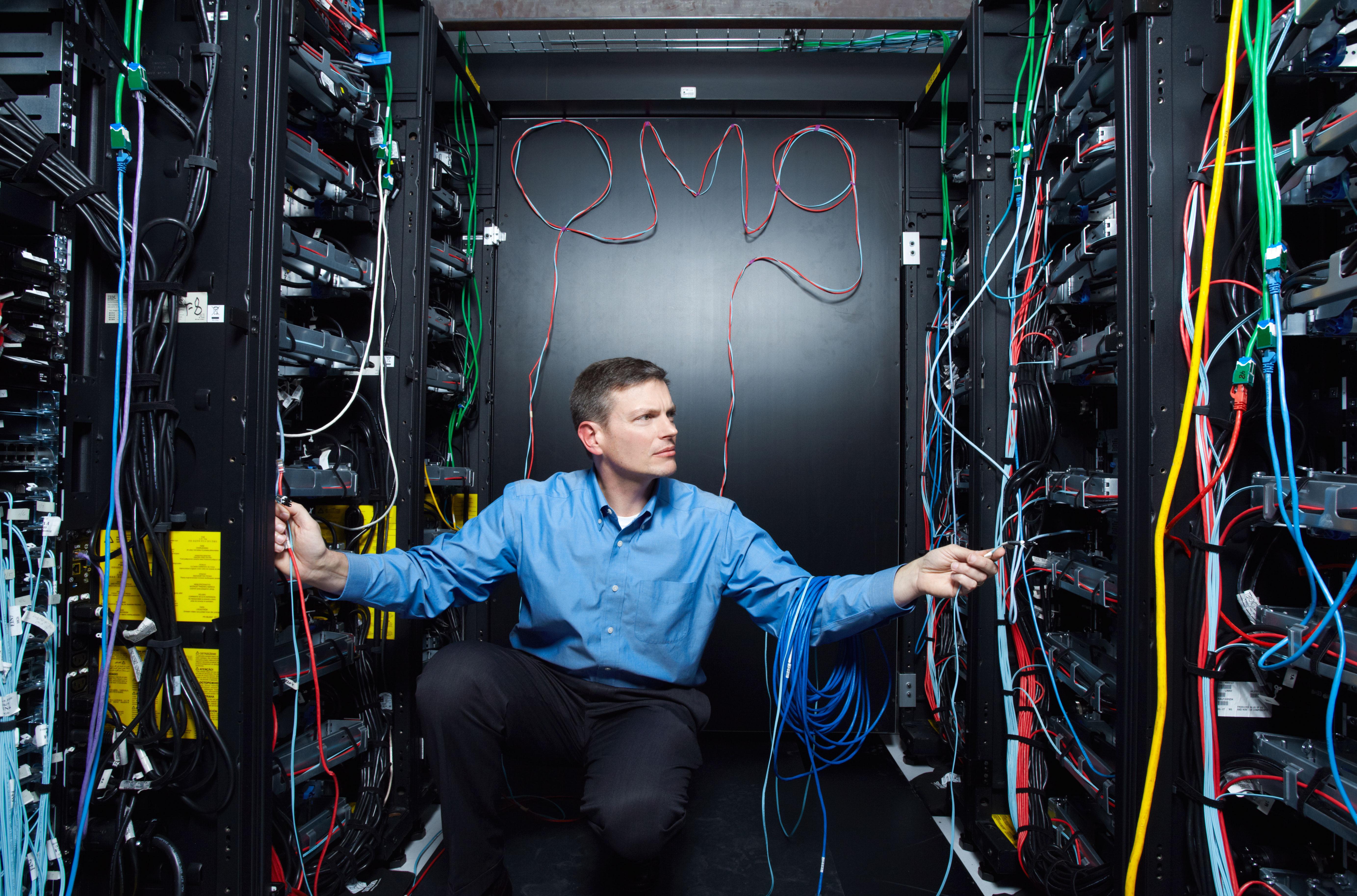 Eric Brown of IBM inside Watson
