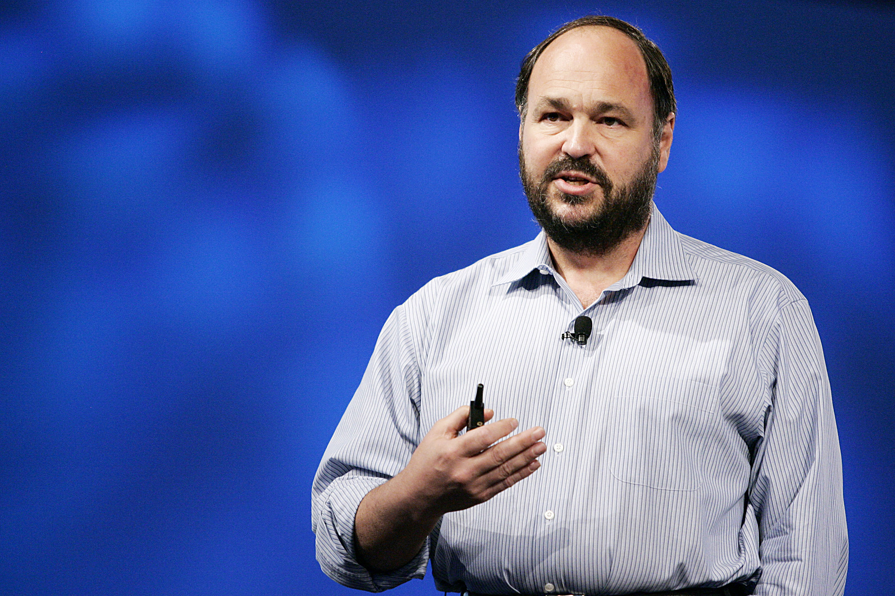 Paul Maritz, chief executive officer of VMware, at the EMC World conference in Las Vegas in 2011.
