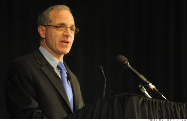 Louis Freeh addresses the media during a press conference at the Westin Hotel in Scranton, Pennsylvania, Thursday, July 12, 2012, where he released the findings of his investigation into the Penn State scandal. (Christopher Weddle/Centre Daily Times/MCT)