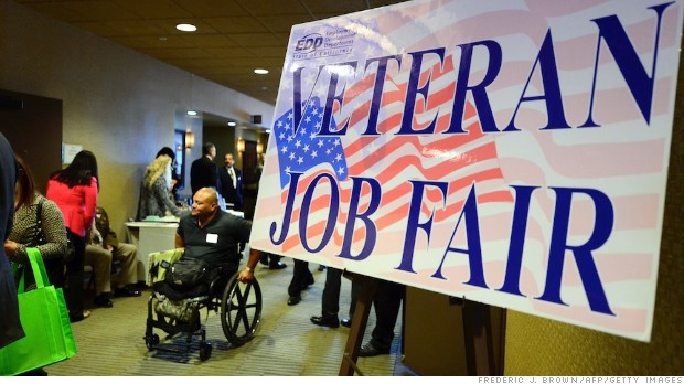 A veterans job fair in Van Nuys, California