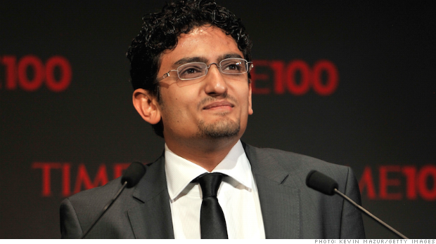 Wael Ghonim at the Time 100 gala in 2011.