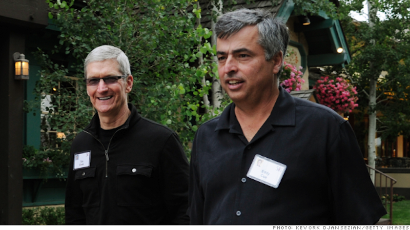 Tim Cook and Eddy Cue