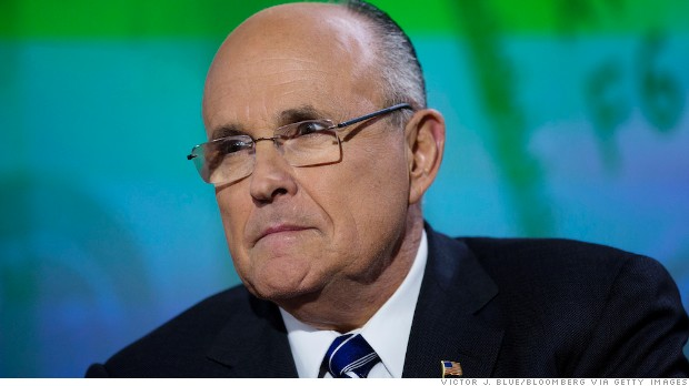 Rudy Giuliani, former mayor of New York, listens during a Bloomberg Television interview in New York, U.S., on Wednesday, March, 6, 2013. Giuliani currently serves as the chief executive officer of Giuliani Partners LLC consulting firm and as a partner at Bracewell & Giuliani LLP law firm. Photographer: Victor J. Blue/Bloomberg via Getty Images