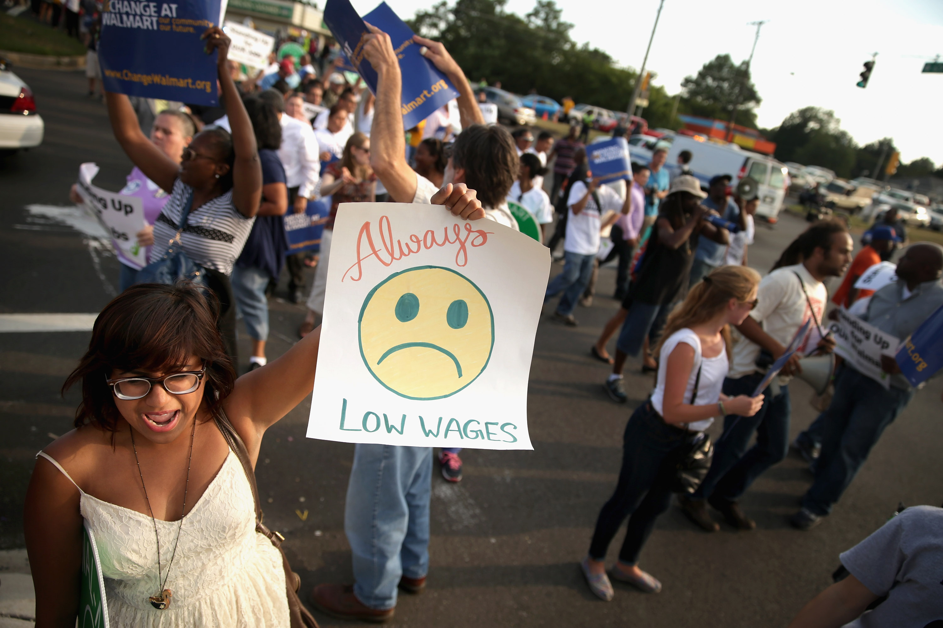 Activists Rally To Support Wal-Mart Workers For Better Jobs And Wages
