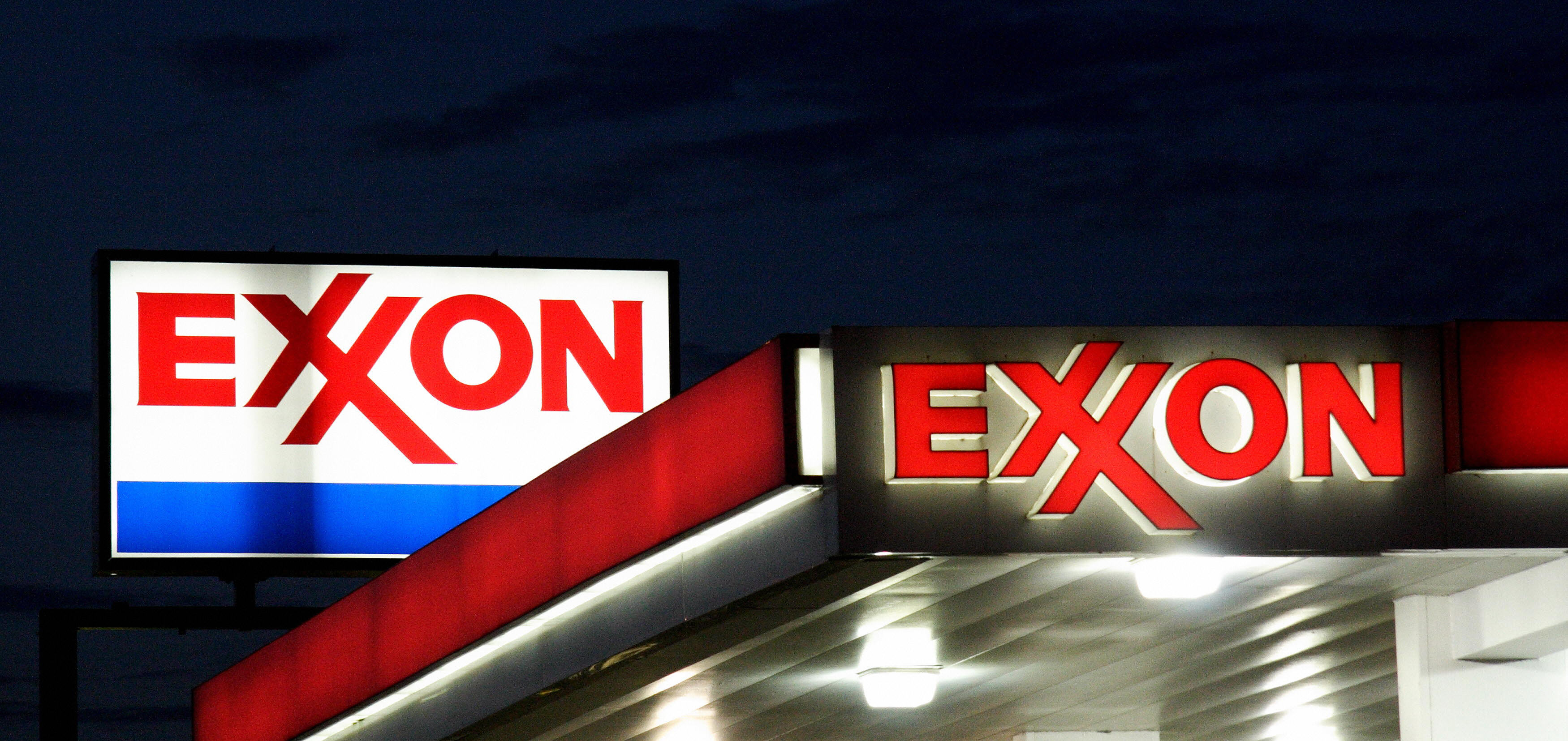 A Exxon sign is seen at a station on Sep