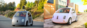 Google's  experimental self-driving cars (Source: Google)