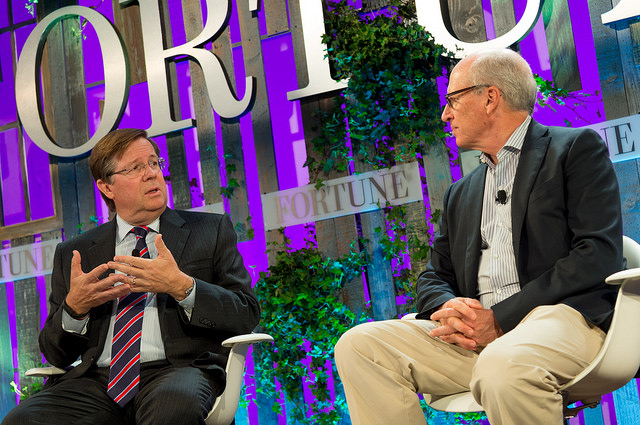 CEO of Toyota North American Jim Lentz speaks with Fortune's Brian Dumaine at Fortune's Brainstorm Green conference.