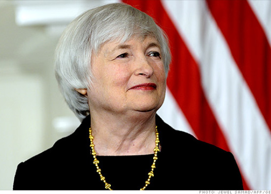 Incoming Federal Reserve chair Janet Yellen