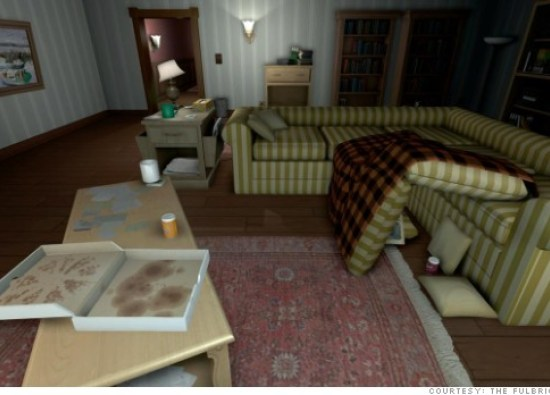 """A scene from the videogame """"Gone Home."""""""