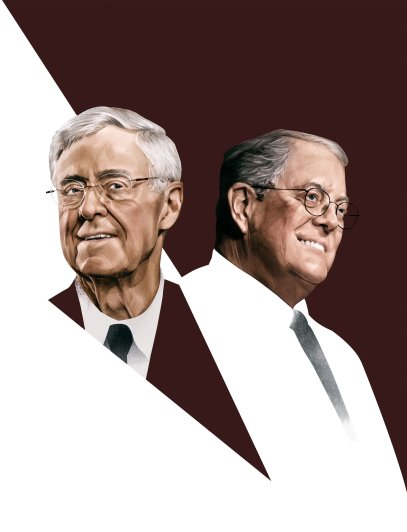 Charles (left) and David Koch have greatly expanded the company founded by their father.