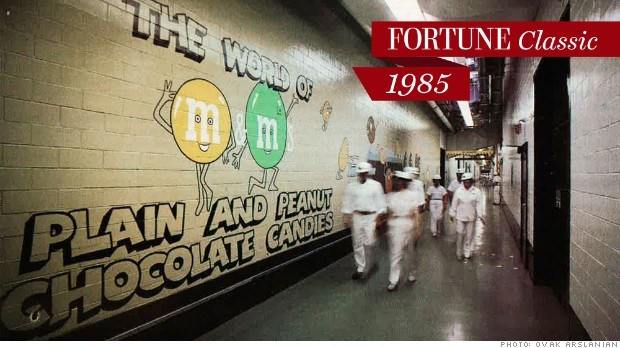 At secretive Mars, workers in hard hats and white coveralls scurry through the M&M's factory in Hackettstown, New Jersey.