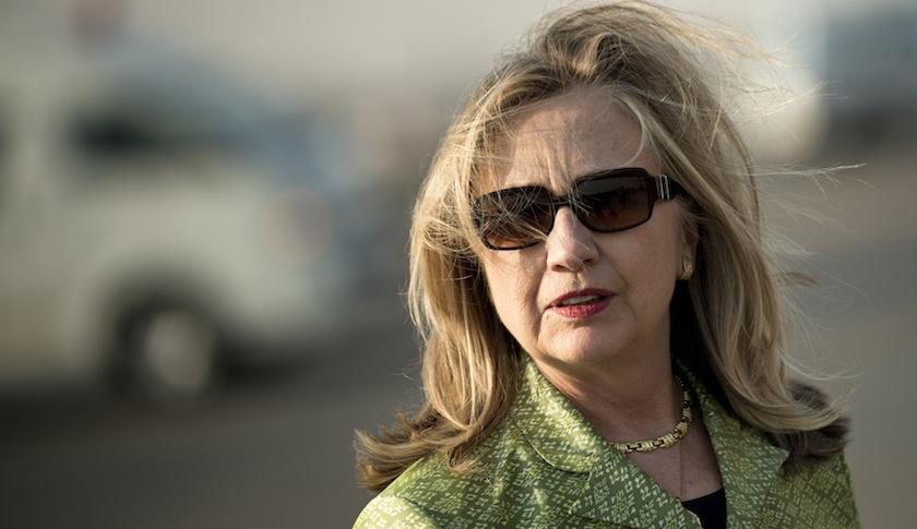 Hillary Clinton at Cairo International Airport