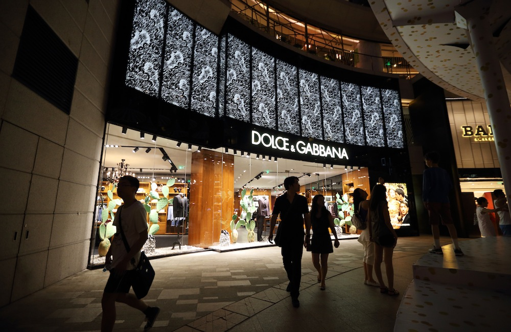 Dolce & Gabbana in Shanghai, China