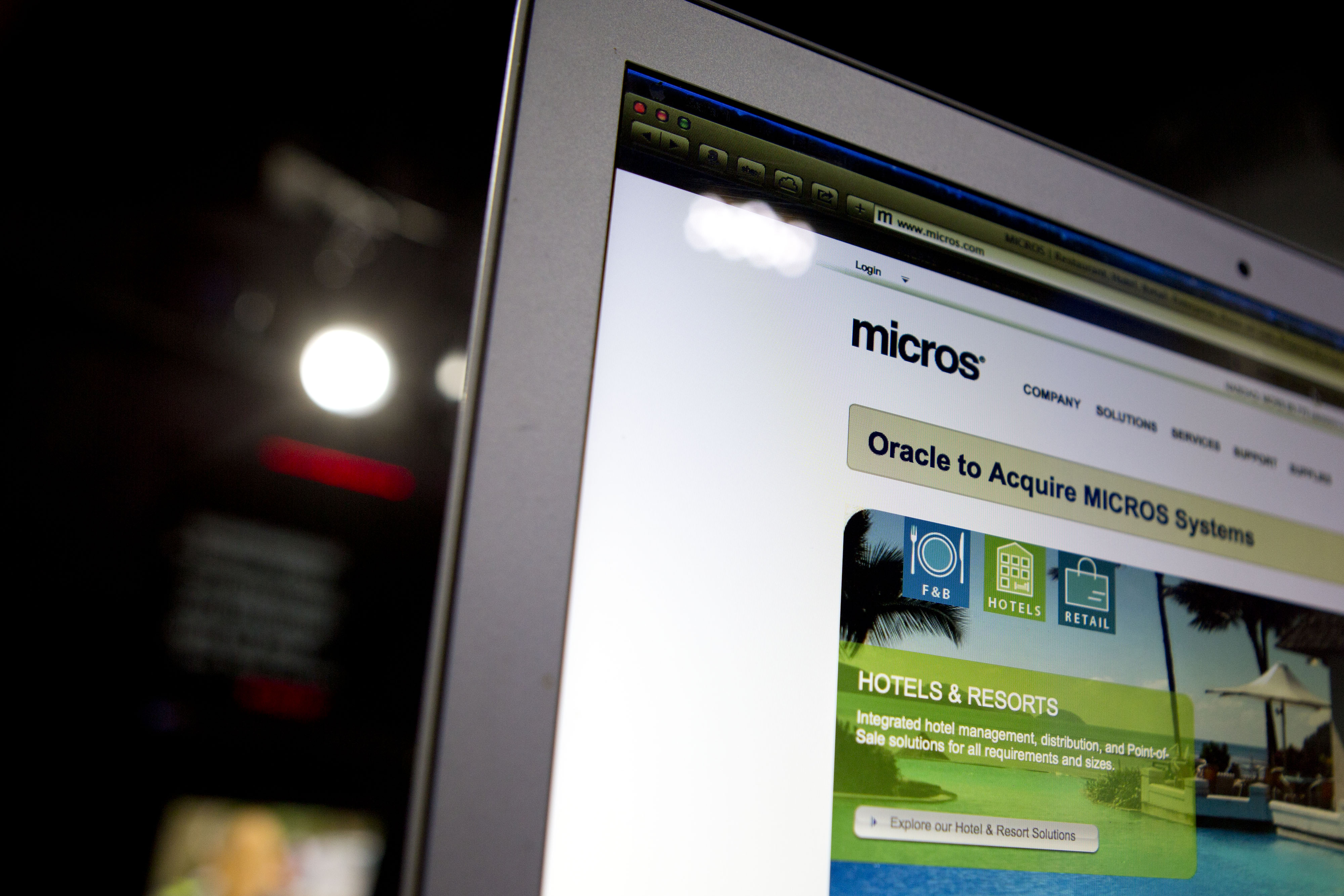 The Micros Systems website.