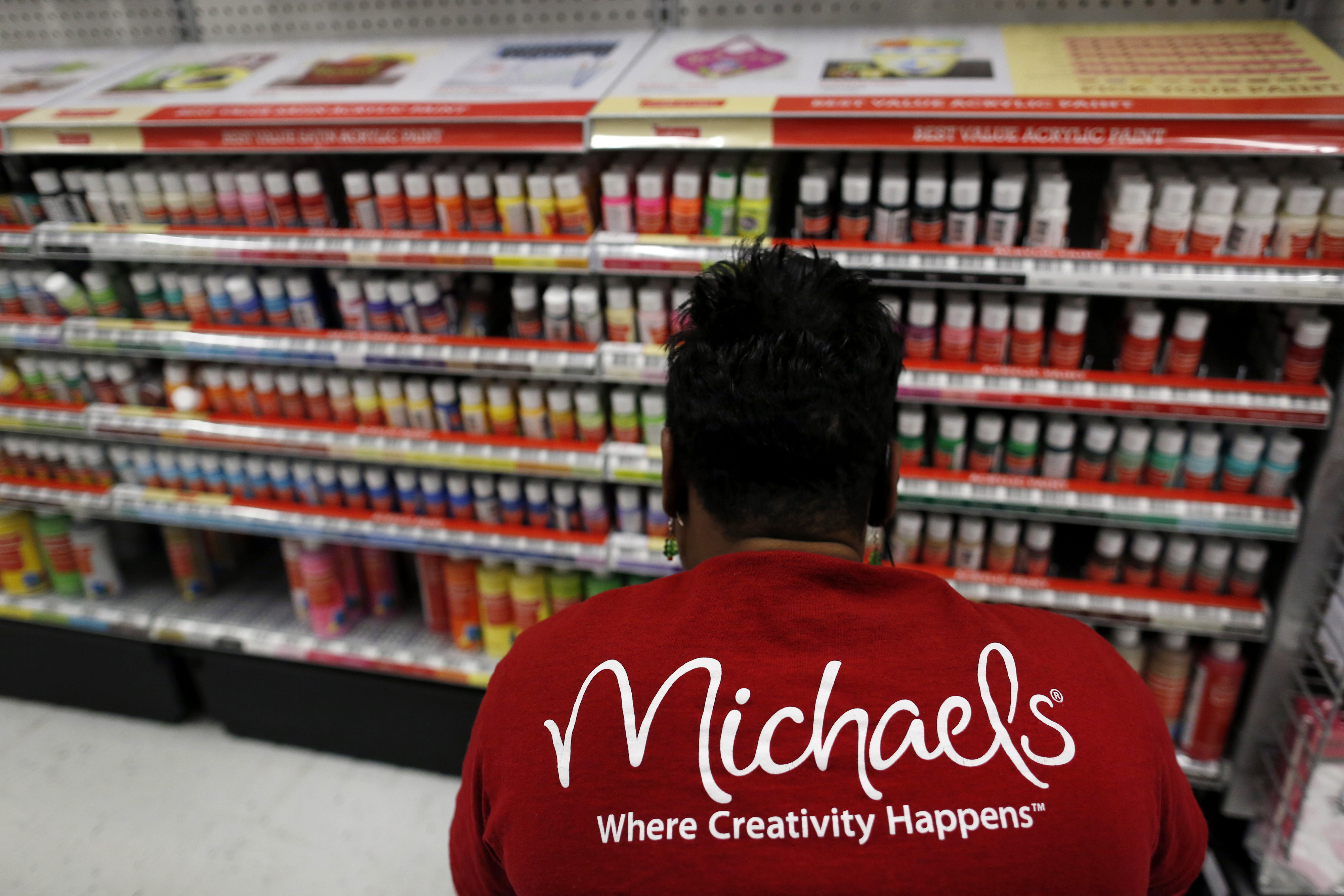 Customers Shop At A Michaels Craft Store