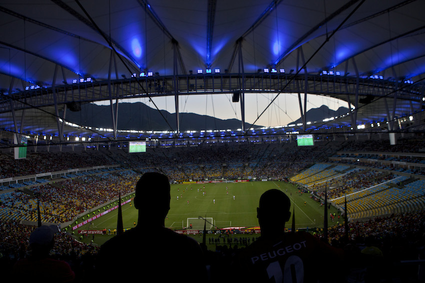 Maracana Stadium Hosts Soccer Game Ahead of World Cup