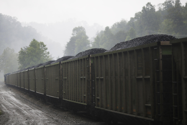 A loaded CSX Transportation coal train.