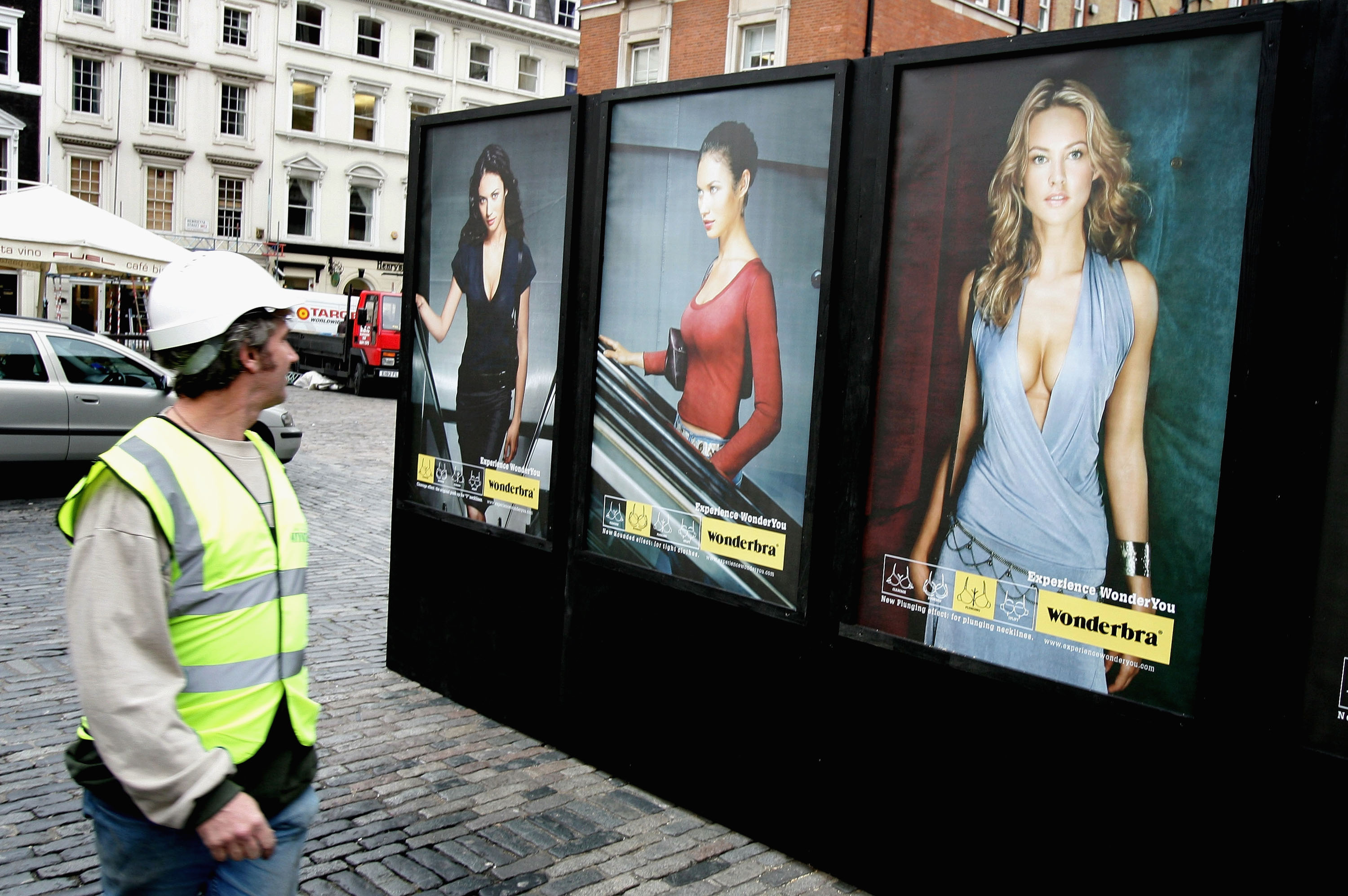 A Wonderbra billboard.