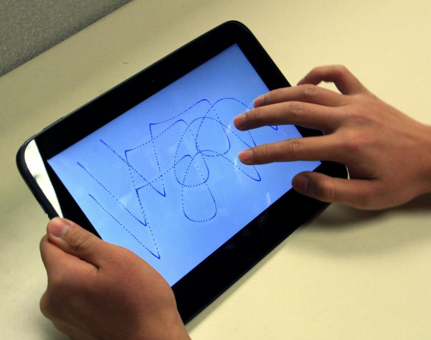 A hand-drawn scribble may be more effective than a PIN or pattern, according to a new study.