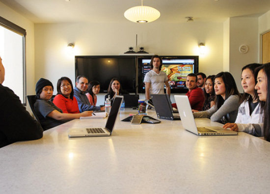 The Kabam team at work. (Photo courtesy Kabam)