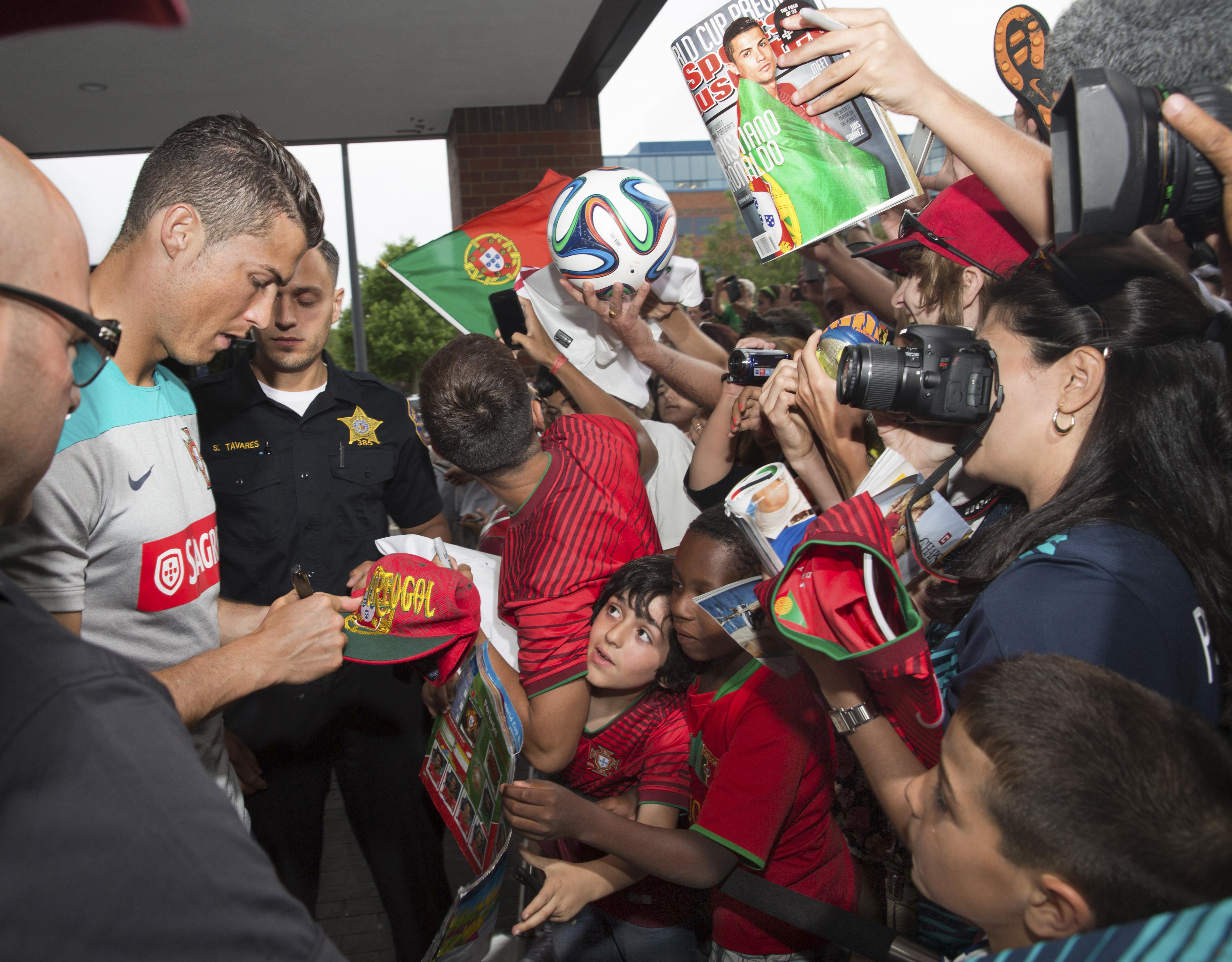 Portuguese player Cristiano Ronaldo