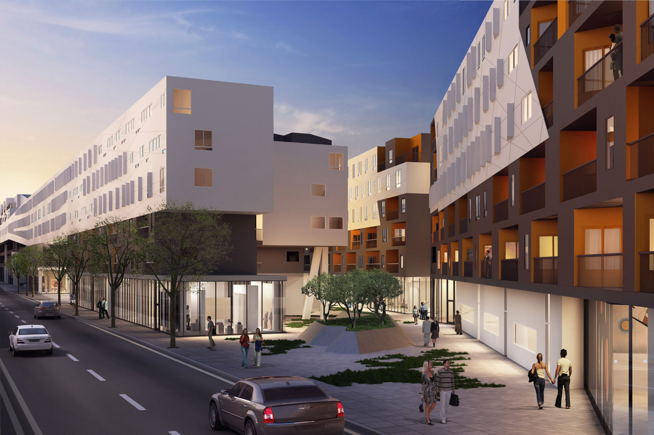 Goldman has provided financing for One Santa Fe, a massive residential and retail complex in Los Angeles.