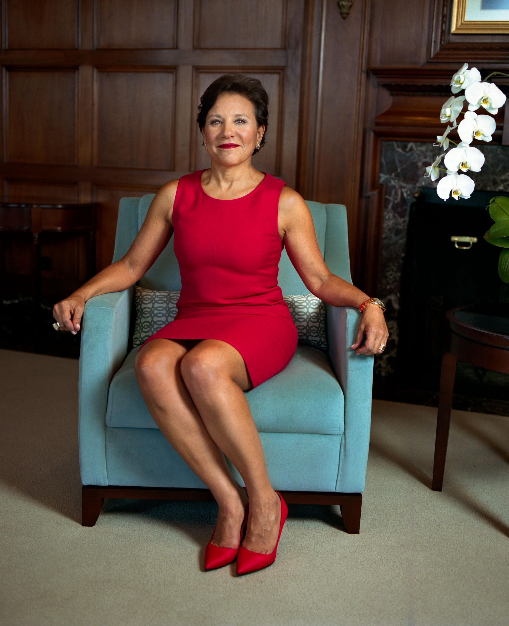 U.S. Secretary of Commerce Penny Pritzker in her office at the Department of Commerce in May 2014.
