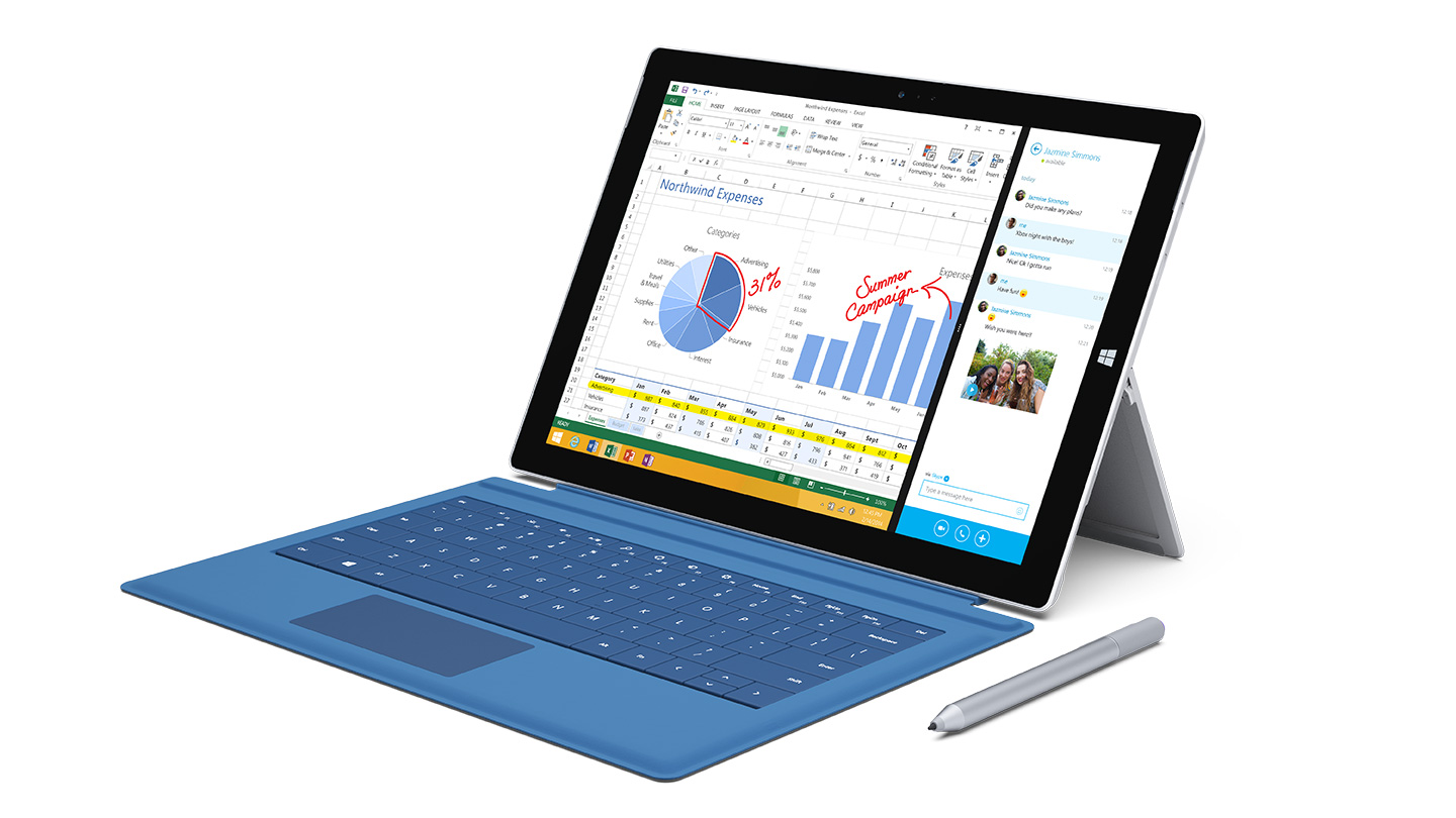 Microsoft's Surface Pro 3 tablet computer.