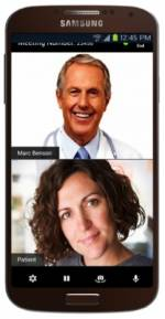 Verizon's new telemedicine system in action from a mobile phone