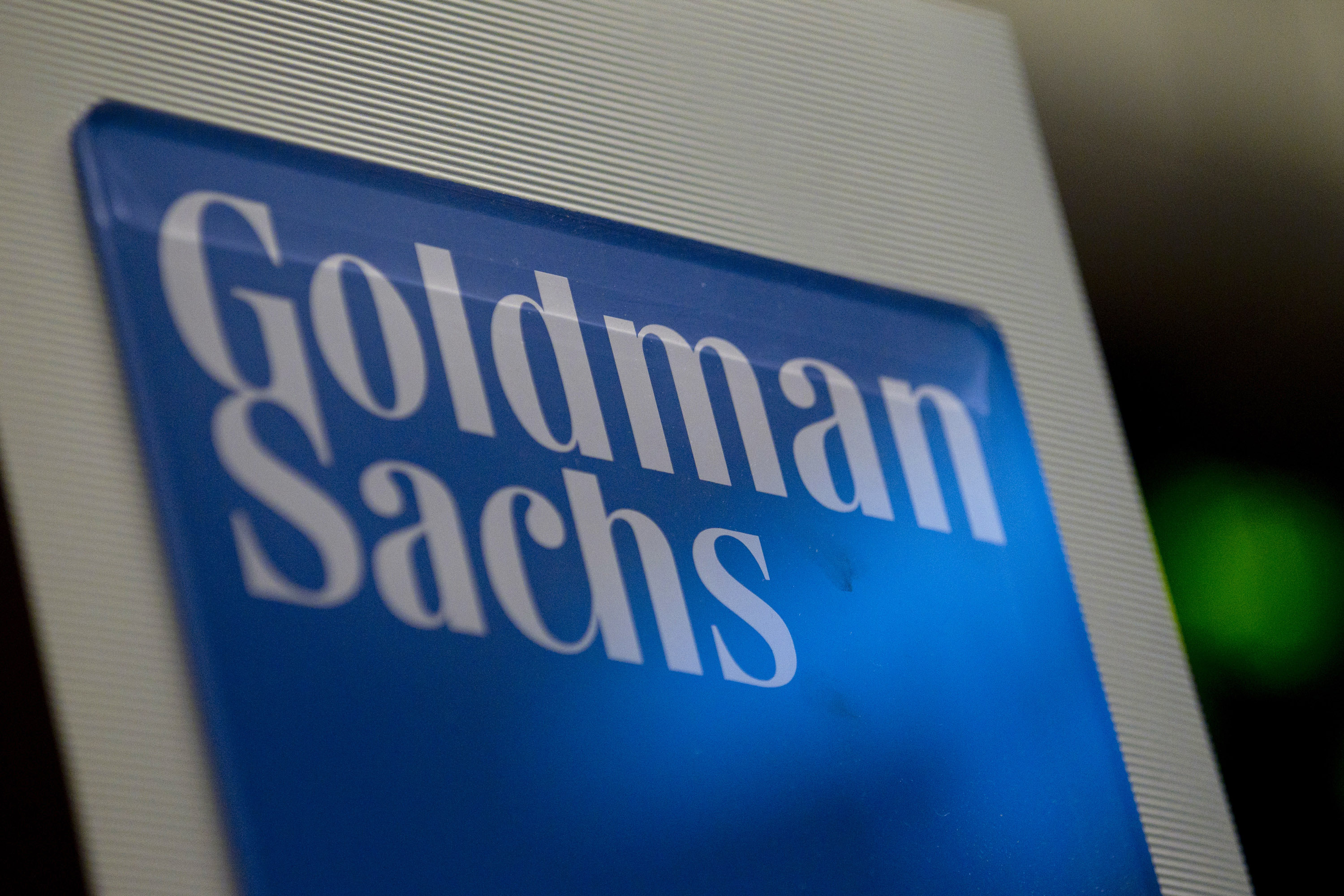 Goldman Sachs Group Inc. signage.