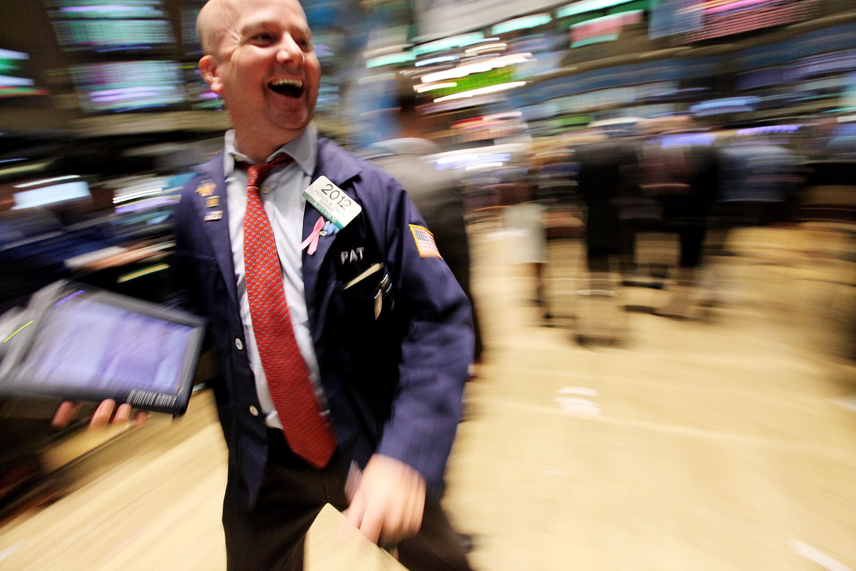 NYSE trader.