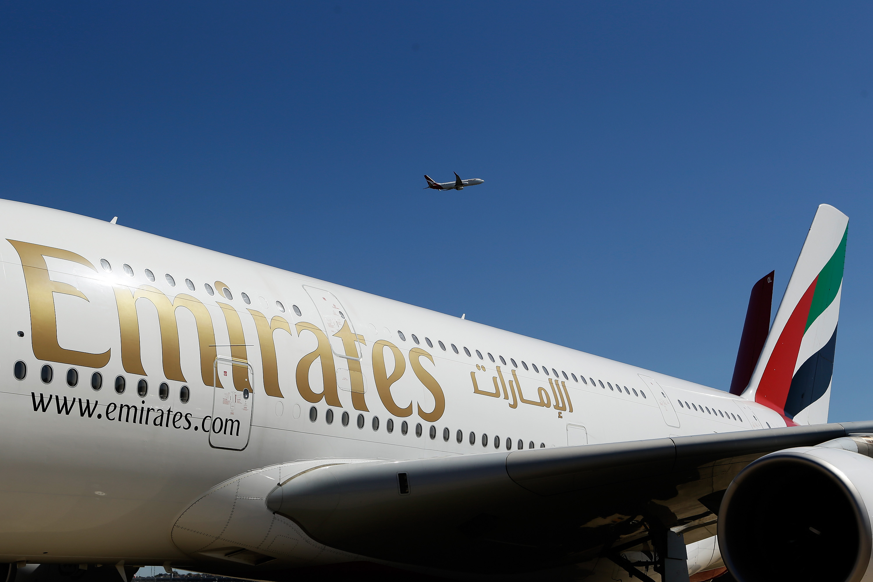 Qantas CEO Alan Joyce and Emirates President Tim Clark Media Event As Airlines Form Alliance