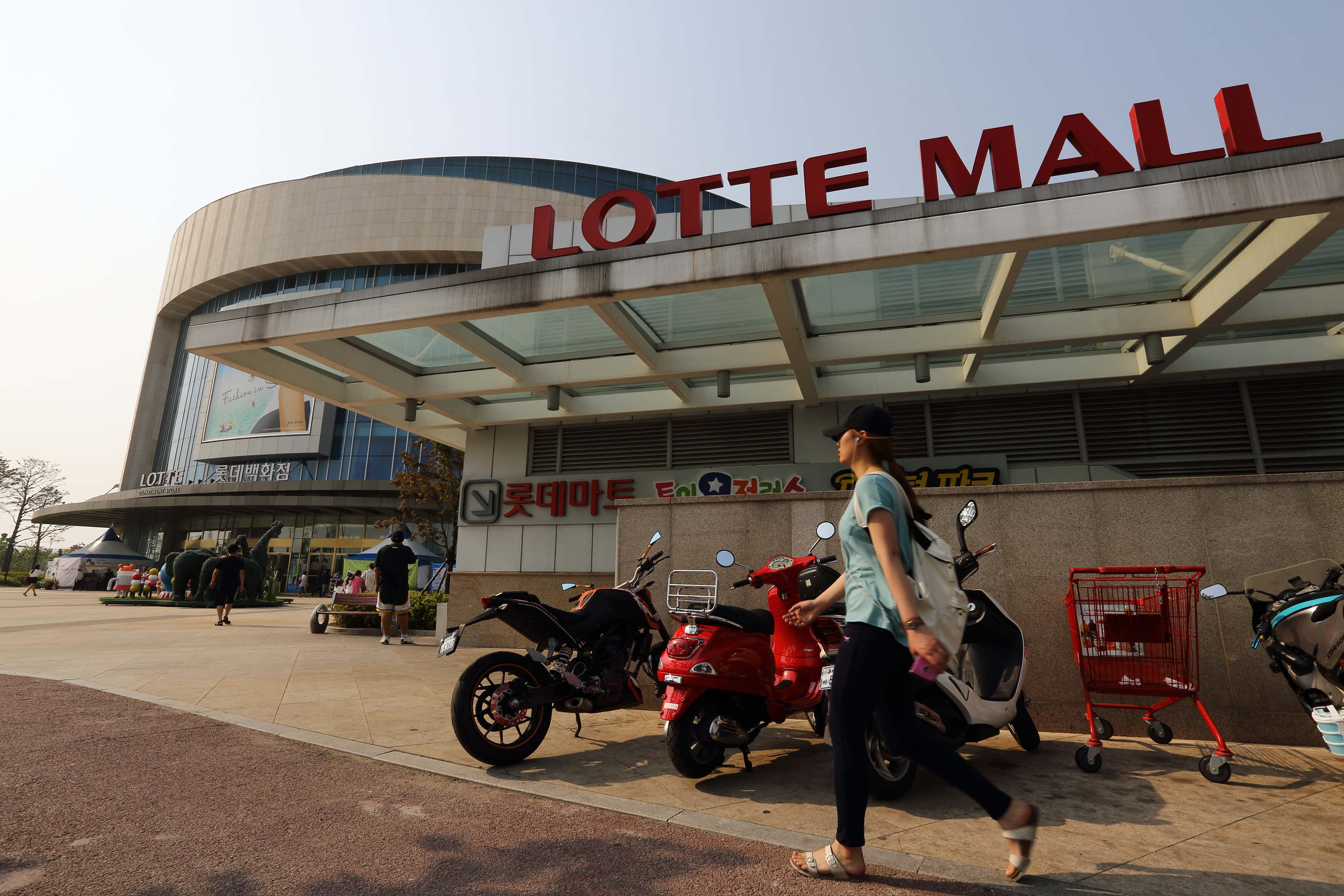Inside the Lotte Mall Gimpo Airport Ahead of Quarterly GDP Figures