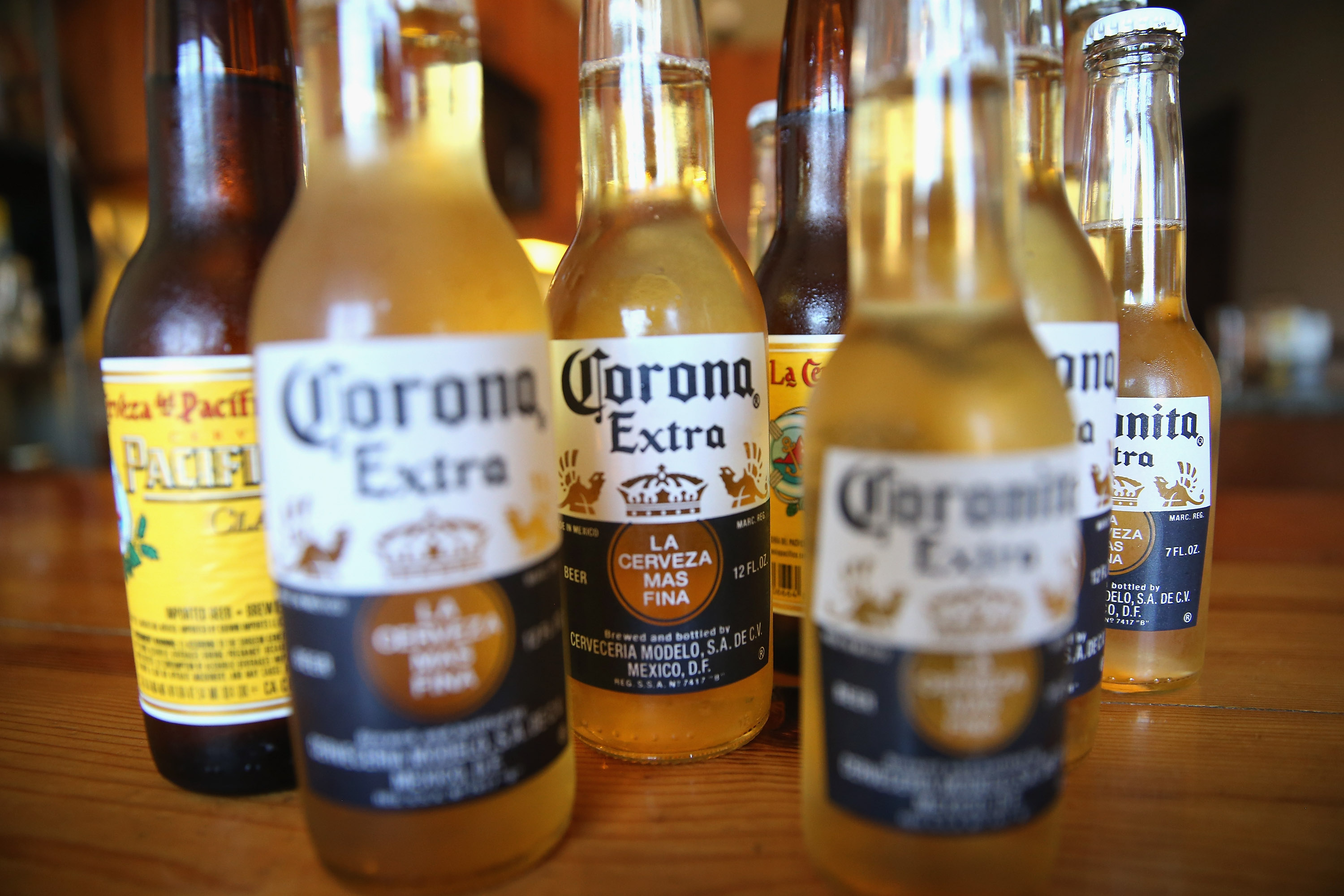 Corona and Pacifico beer.
