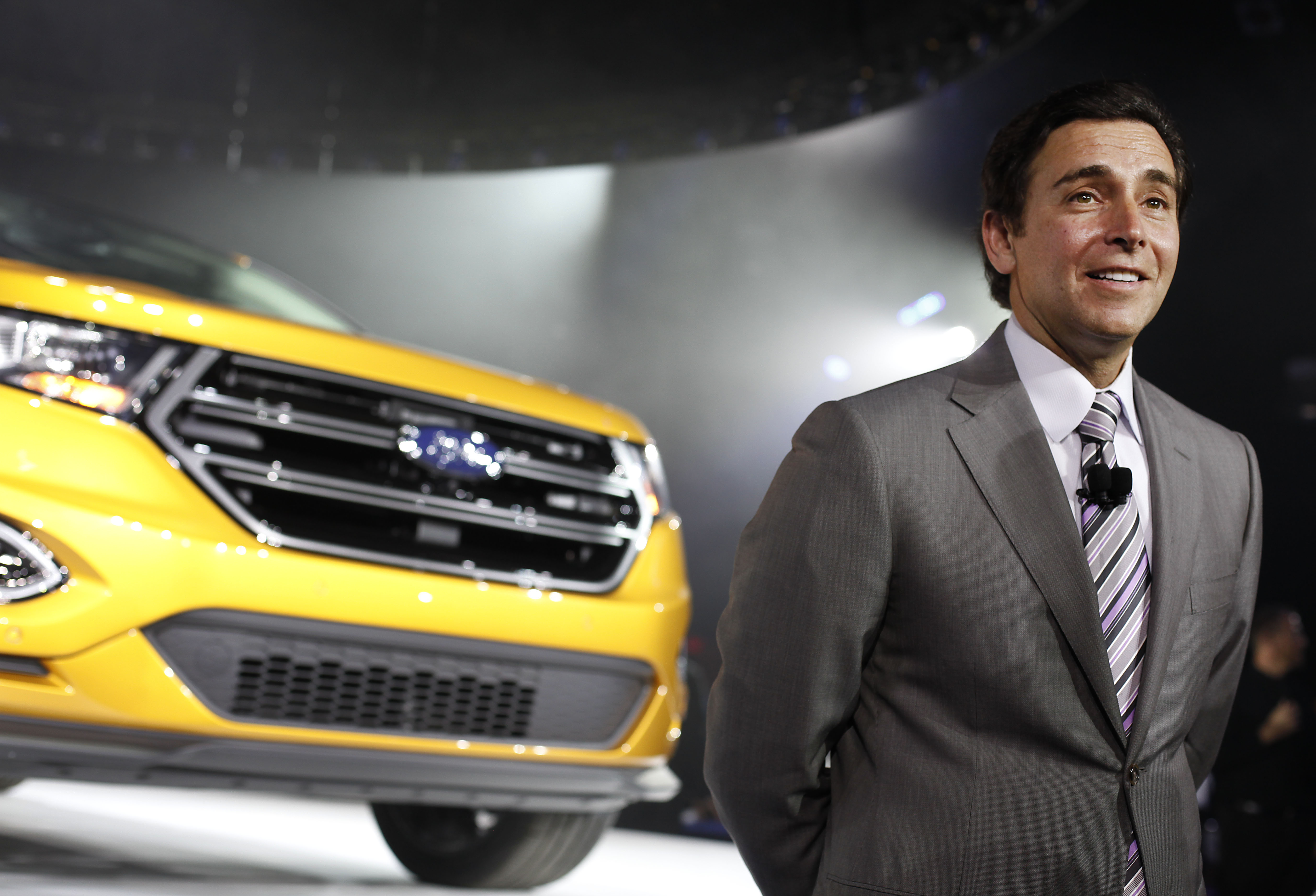 Incoming Ford CEO Mark Fields Unveils New 2015 Ford Edge