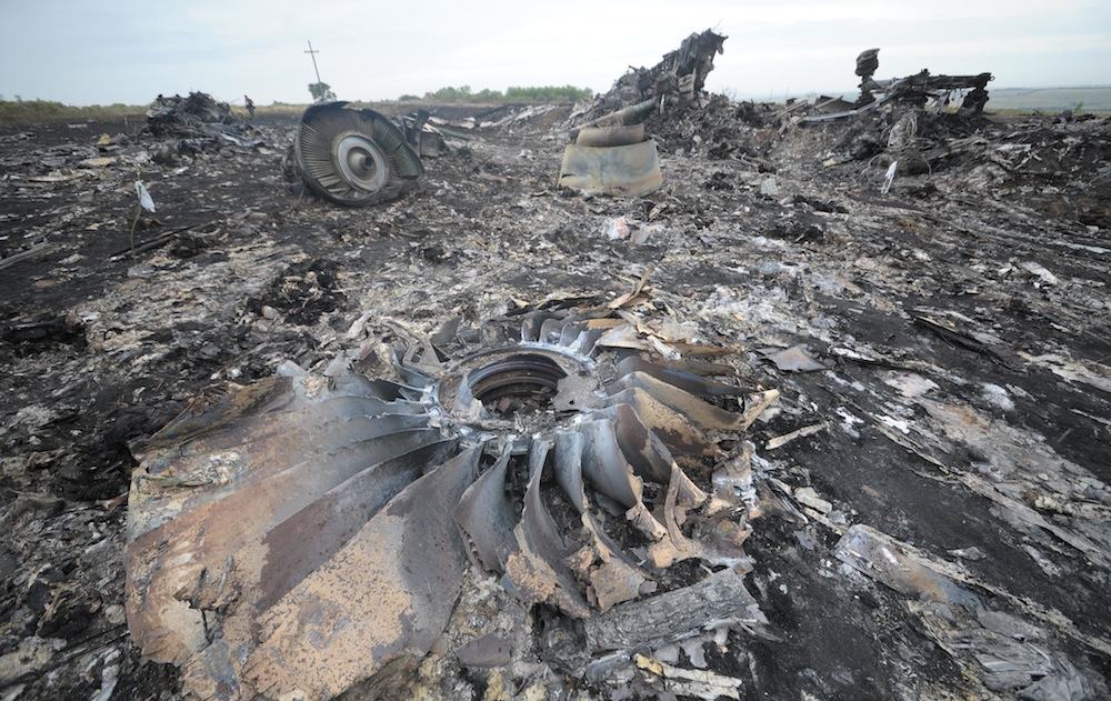 Wreckage of Malaysia Airlines Plane