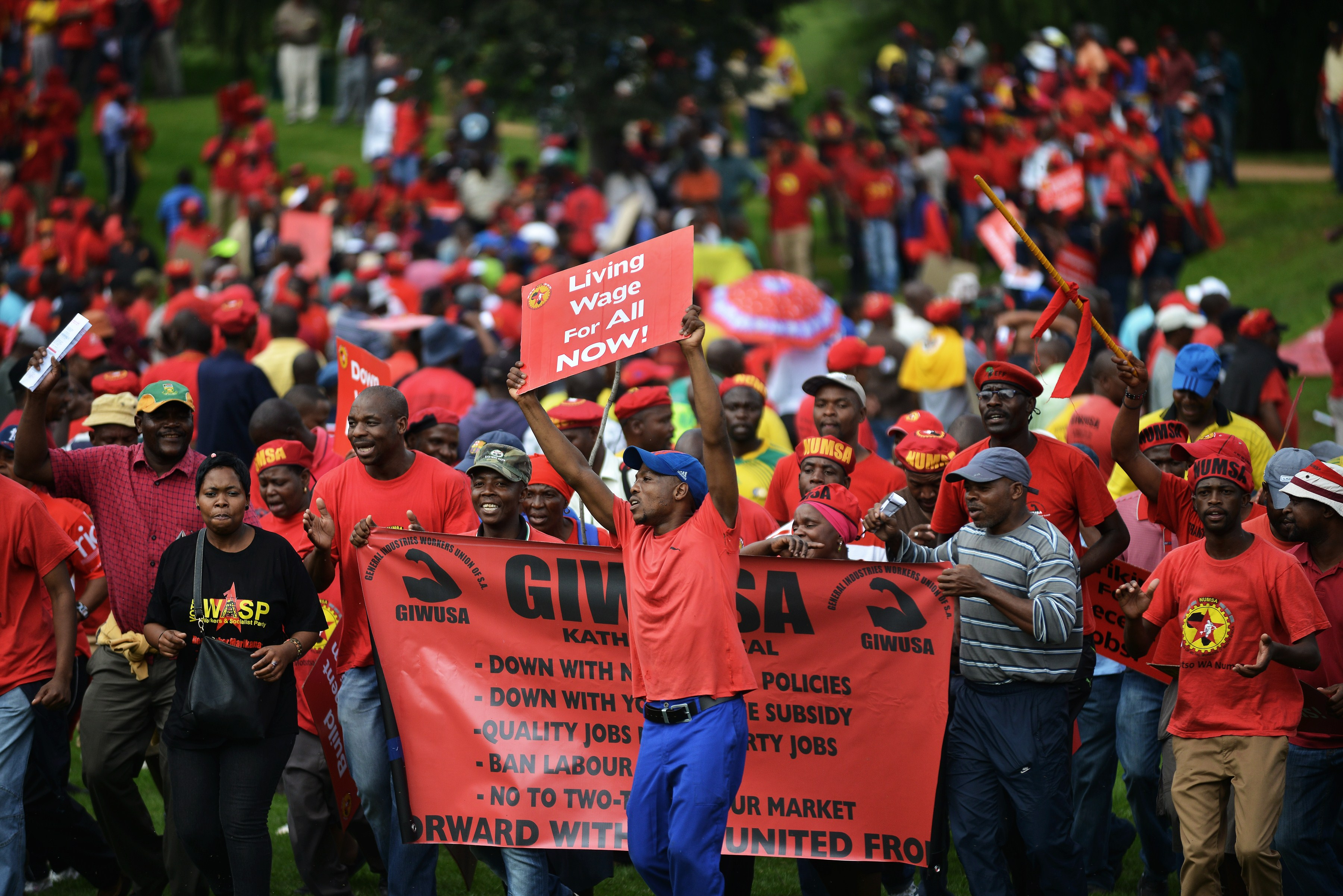 That deja vu feeling all over again for South Africa. 220,000 metalworkers strike for higher pay.