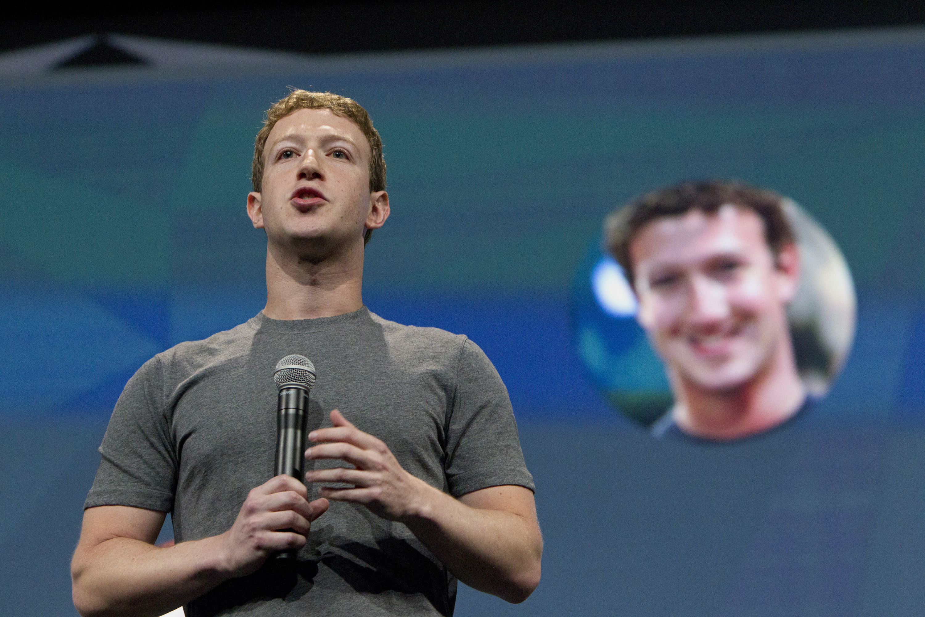 Facebook CEO Mark Zuckerberg speaks during the 2014 Facebook F8 Developers Conference in San Francisco.