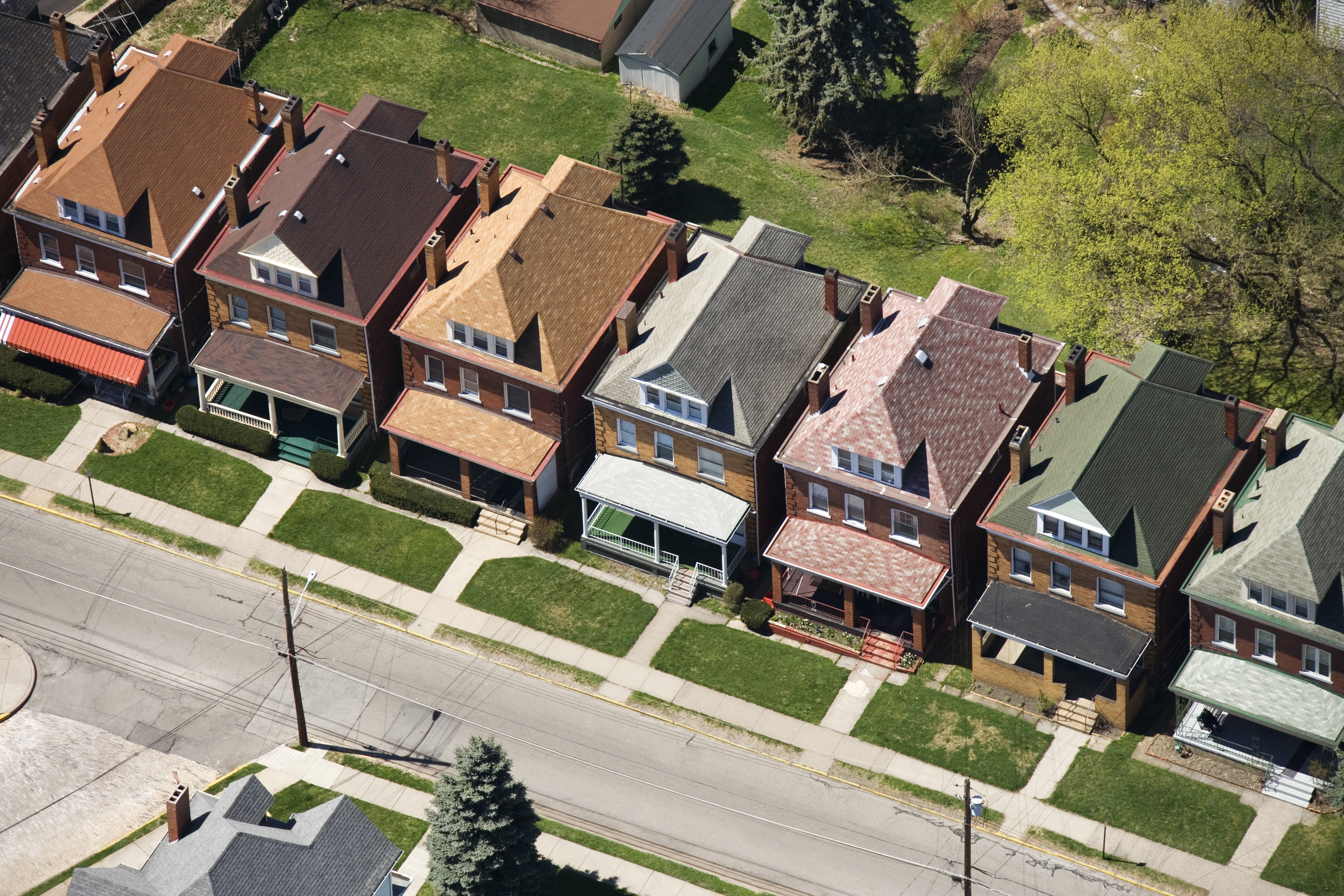 A row of homes in Pittsburgh, Pennsylvania. Pittsburgh is one of several cities working directly with NextDoor to improve public safety.