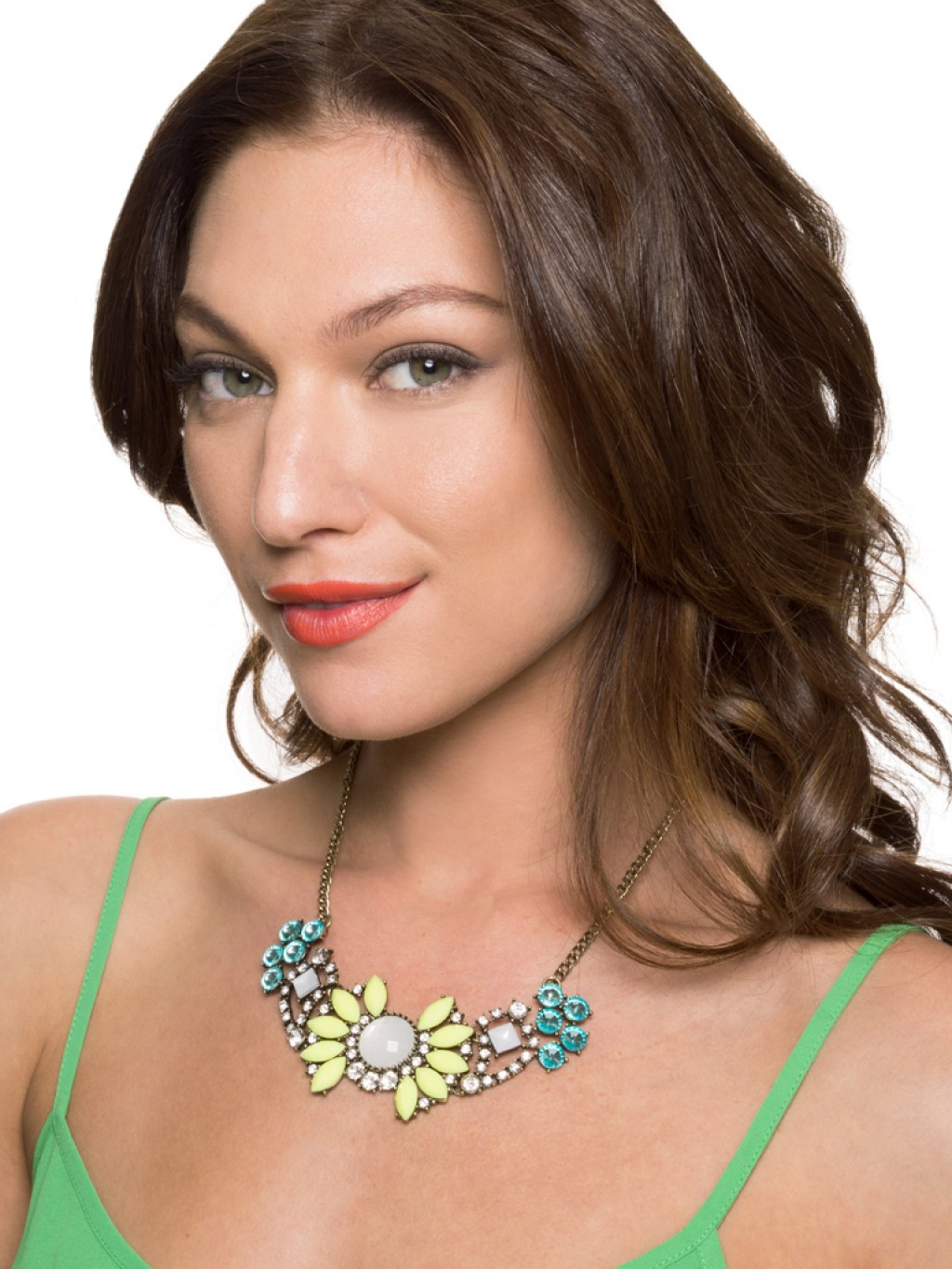 "BaubleBar's ""Peony Pendant"" necklace, which sells for $36."