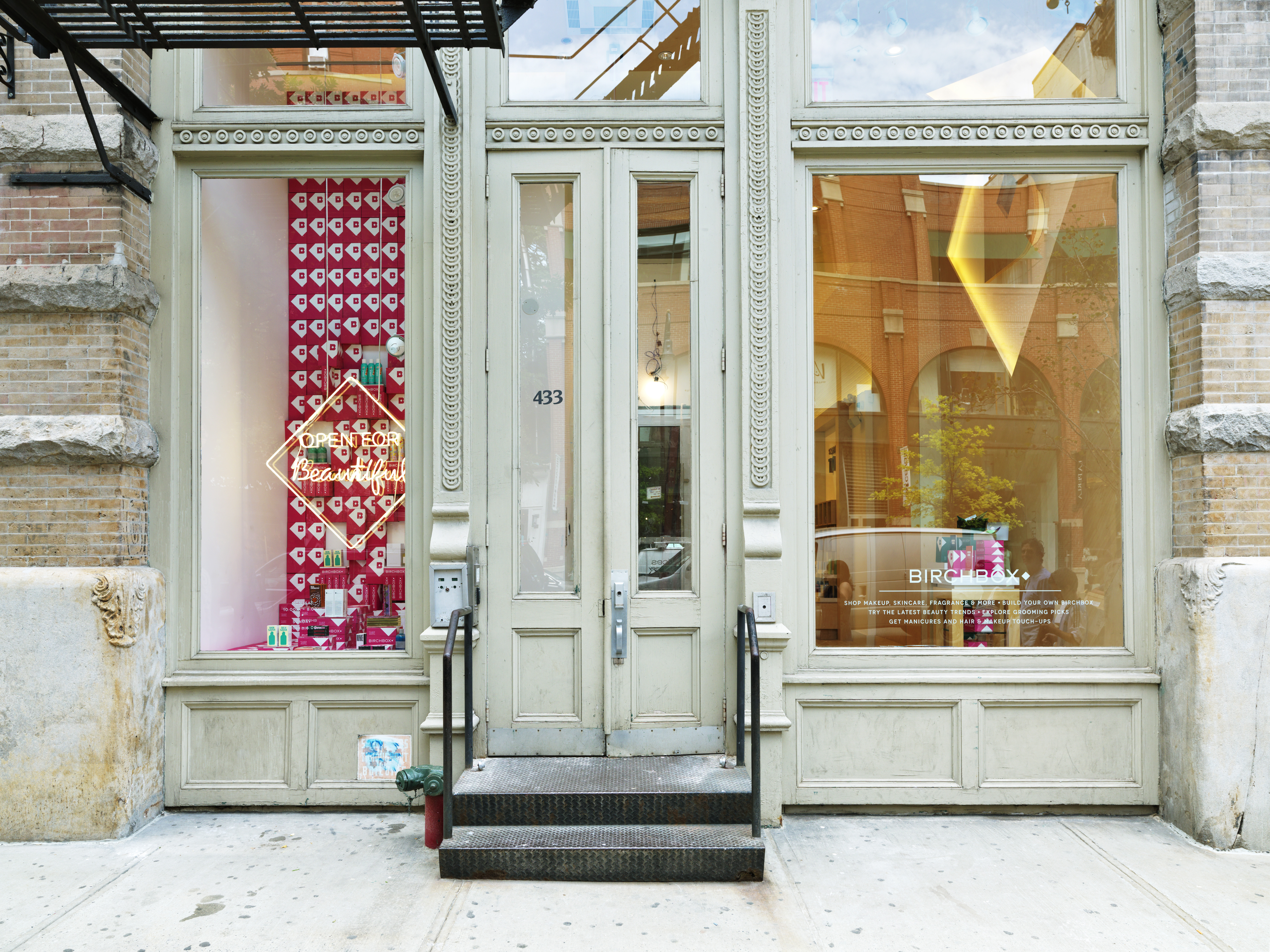 The first brick-and-mortar Birchbox store in the Soho neighborhood of New York City.