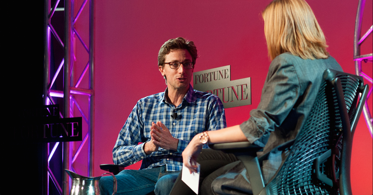 BuzzFeed CEO Jonah Peretti talks with Fortune senior writer Jessi Hempel at Fortune Brainstorm Tech in Aspen, Colorado.