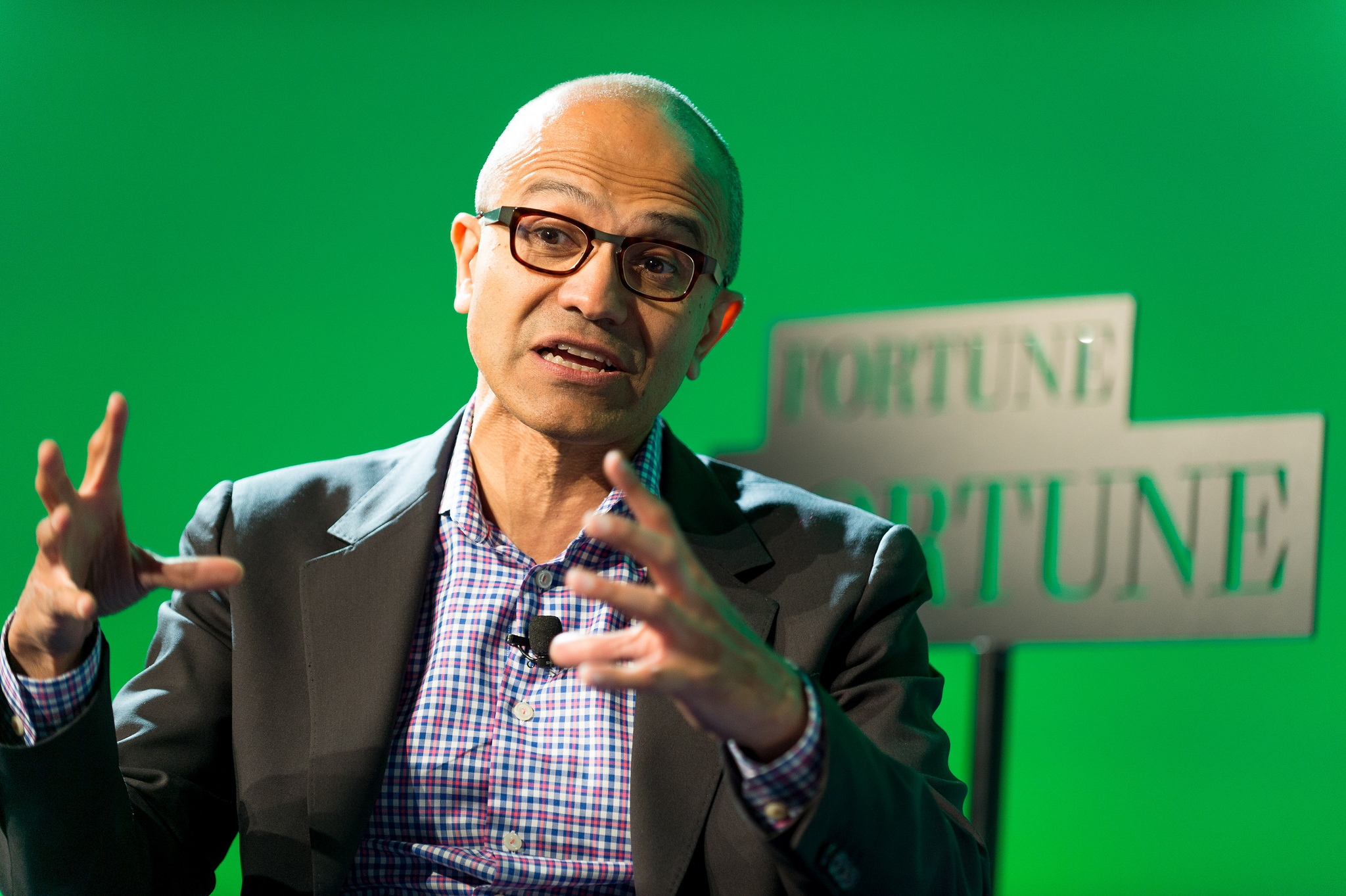 Microsoft CEO Satya Nadella speaks at Fortune Brainstorm Tech in Aspen, Colorado on July 14, 2014.