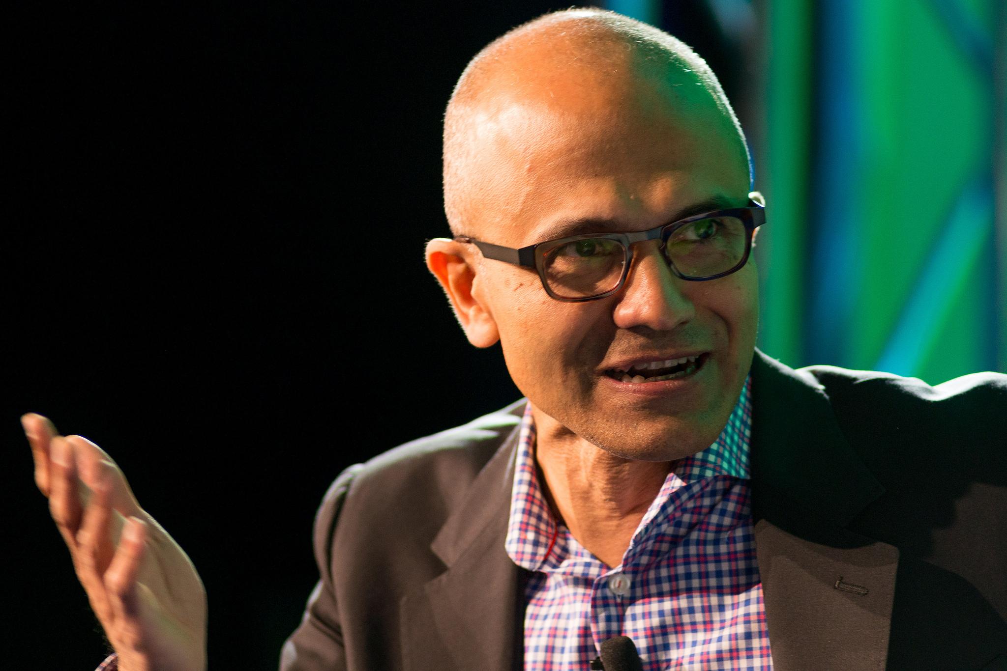 Microsoft CEO Satya Nadella speaks at Fortune Brainstorm Tech in Aspen, Colorado on July 14, 2014.