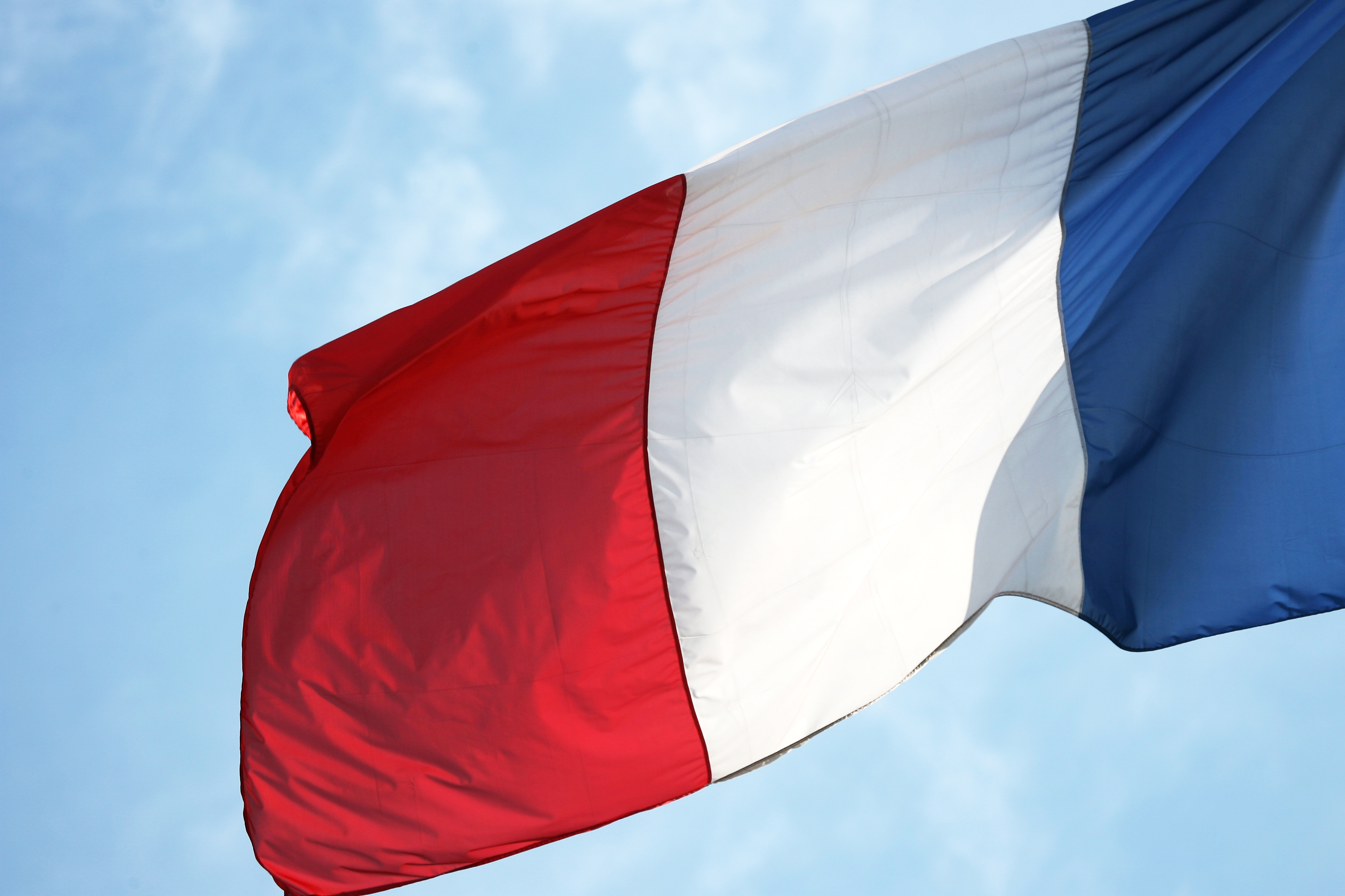 Picture of the French flag taken 20 June