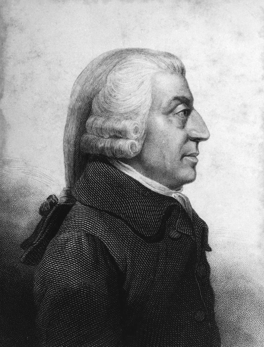 A portrait of Adam Smith