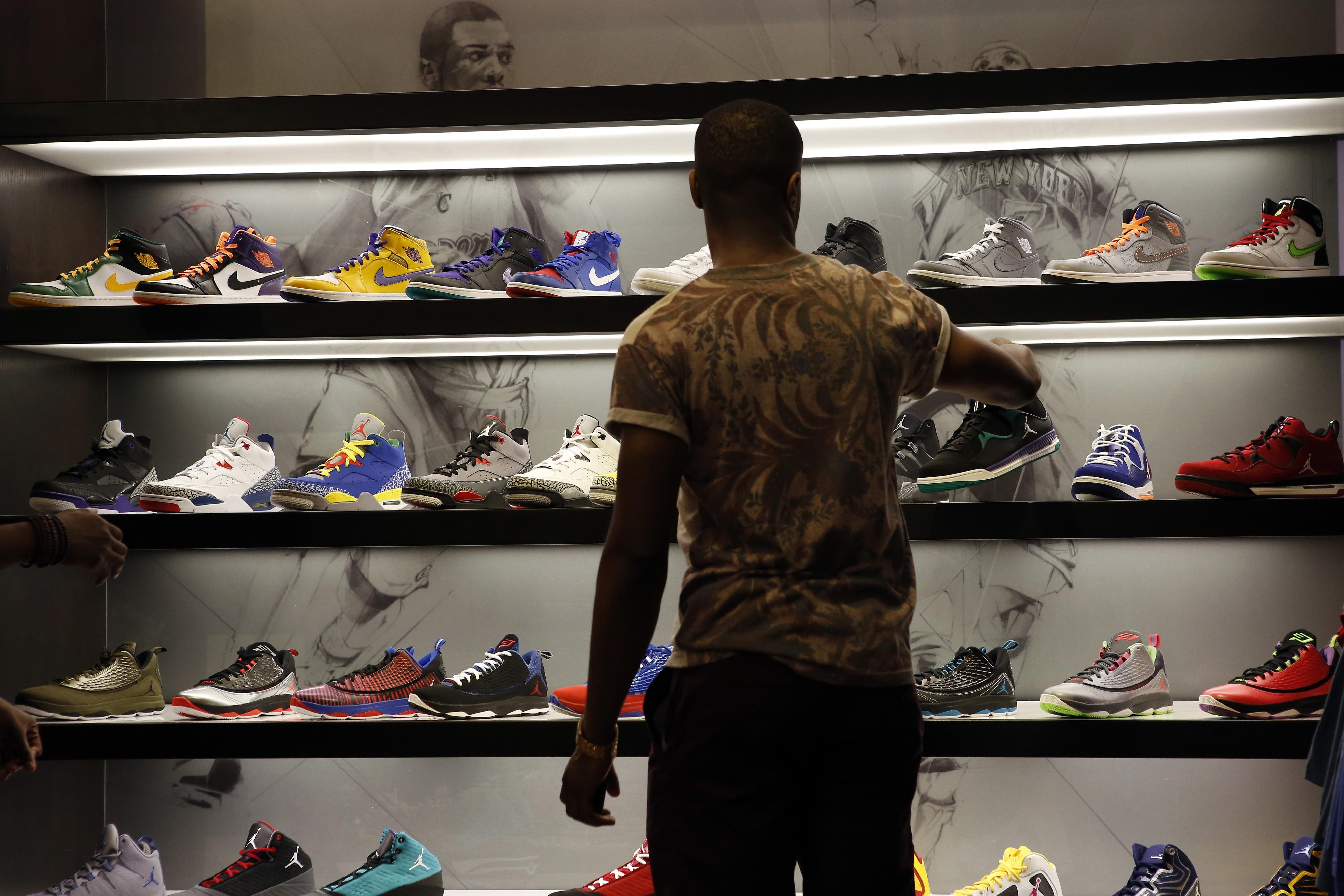 Inside A Foot Locker Store Ahead Of Earnings Data