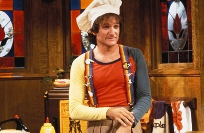 Williams as Mork from Ork
